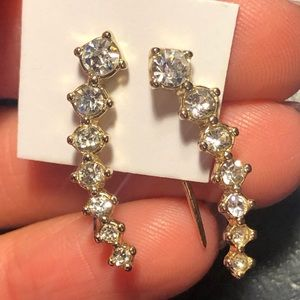 Gold Ear Climbing Earrings - NEVER WORN